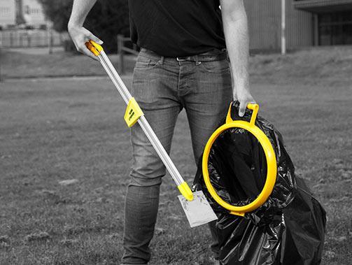 Hillbrush litter picker and handy hoop